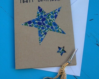 Handmade Liberty of London Birthday card