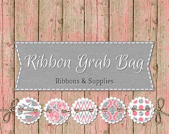 """7/8"""" / 1"""" Ribbon Grab Bags 3, 5 or 8 yard Variety Packs"""