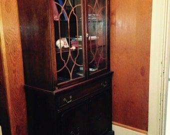 Mahogany Book Shelf / Hutch / Cabinet
