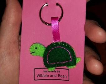 Turtle Teeny Felt Keyring
