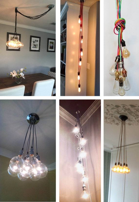 7 cluster custom any colors chandelier multi pendant like this item aloadofball Images