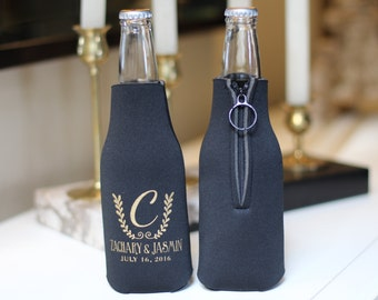 Zippered Bottle Coolers, Wedding Favors, Personalized Wedding Favors, Party Favors, Zippered Bottle, Promotional Products, Bottle Coolers