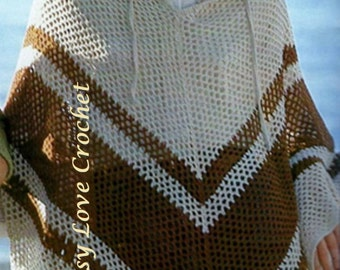 Crochet Poncho PATTERN - PDF Download