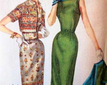 Vintage Simplicity 1522 Sewing Pattern, Sheath Dress Pattern, Bolero Pattern, 1960s Sewing Pattern,  Bust 32, Jacket, 1960s Sewing Pattern