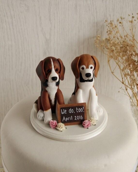Custom Dog Cake Topper Two Dog Cake Topper Dog Wedding