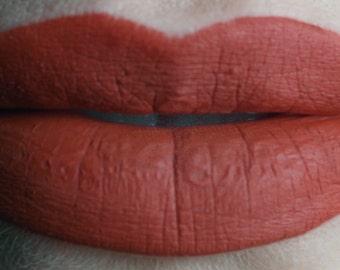 Burnout - Vegan Opaque Warm Neutral Red Matte Liquid Lipstick
