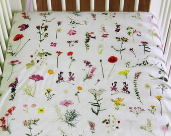 Fitted crib sheet, Crib bedding, Art Gallery Fabric, Lavish Fabric