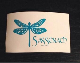 Dragonfly Sassenach Vinyl Decal00gs