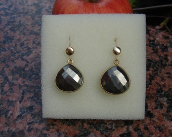 Earrings of pyrite in 585-er gold filled!