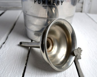 Vintage French Silver Wine Funnel