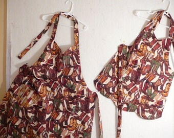 Mommy & Me reversible aprons