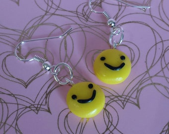 Emoji polymer clay/Fimo earrings