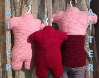 Mannequin Torsos Crochet Pattern - 3 Sizes: Toddler, Child Small and Large