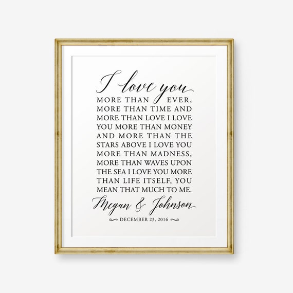 Personalized Wedding Sign Bob Dylan Song Lyric