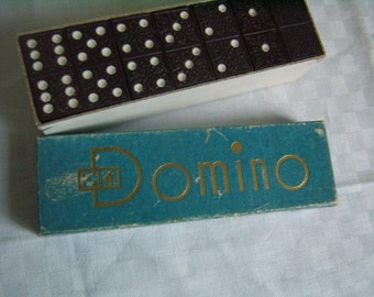 Vintage, antique bakelite dominoes / resin