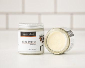 Mandarin Body Butter, Whipped Body Butter, Natural Body Moisturizer, Dry skin, Dry Skin treatment, Shea Body Butter, Whipped Shea Butter