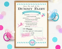 Dummy Fairy Letter, Letter from the Dummy Fairy, Custom Dummy Fairy certificate, Dummy Fairy gift