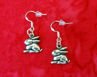 50% SALE Bunny Earrings..Rabbit Earrings..Easter Bunny Earrings..Easter Earrings..Easter Jewelry Gift For Her 925 Silver Wires FREE SHIPPING