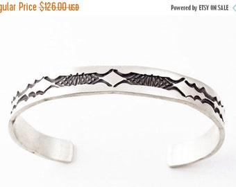 SAVE 15% Sterling Silver Handcrafted Bracelet Navajo Nora Bill