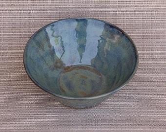 pottery, handmade, handmade pottery, pottery bowl, handmade pottery bowl, Blue green bowl, blue green pottery bowl, serving bowl, snack bowl