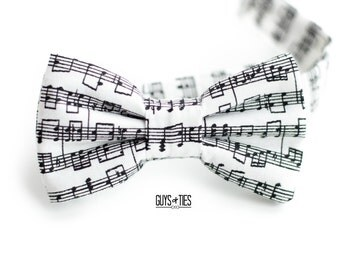 music bow tie, music notes, piano bow tie, music lover gift, concert bow tie, unique bow tie, boys bow tie, piano recital tie, sheet music