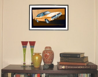"""1969 Dodge Charger 11""""w x 17""""h Print"""