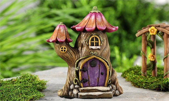 Tree House Abode Home Fairy Gnome Enchanted Forest Estate