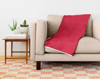 Apple Red Blanket, Solid Red Throw Blanket, Red Fleece Blanket, Red Fleece Throw, Red Blanket, Red Toss Blanket, Red Bedding, Red Bedroom