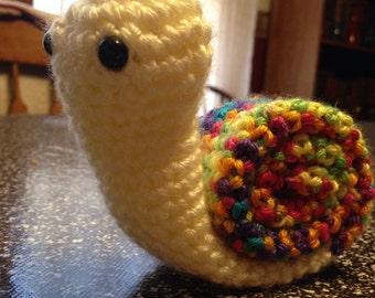 Adorable Crochet Snail