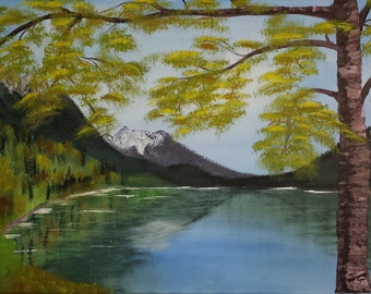 Steiner Hintersee, painting on stretched canvas