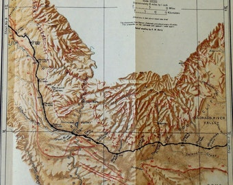 Rio Grande River Map Etsy - Map of the rio grande river
