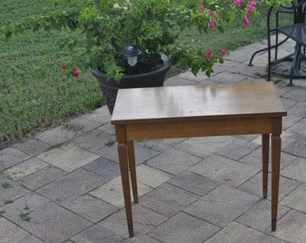 Vintage Wood Piano Bench