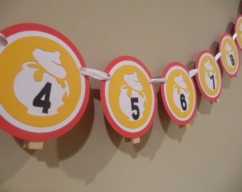 Winnie The Pooh Inspired Photo Banner, Pooh Photo Banner, 1st Year Photo Banner, Winnie the Pooh Decoration