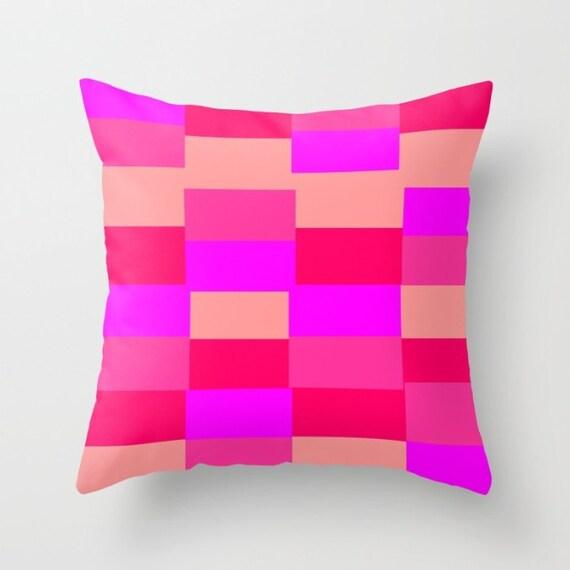 Light Pink Decorative Pillow : Pink Fuchsia Light Pink Pattern Throw Pillow by MirabellaMarket