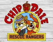 Chip and Dale Rescue Rangers Iron On T-shirt Transfer Printable - Disney Mickey ears Holiday shirt  Family Vacation couple matching shirts