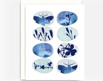 """Folk Art Greeting Card """"Fossils"""""""