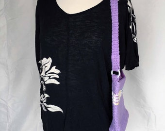 Lavender crocheted lined purse