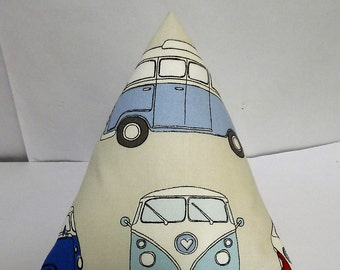 VW campervan cotton doorstop. Unfilled.