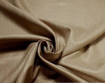 Fabric rayon linen plain sand heavy beige