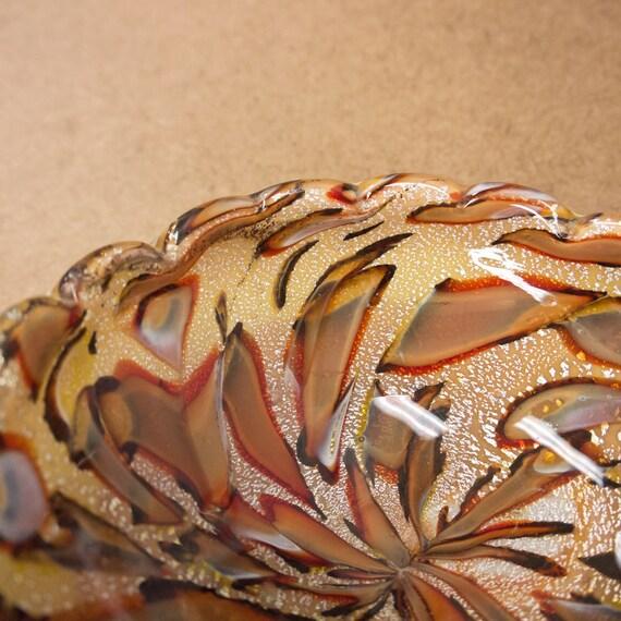 MidCentury Ashtray Cigar Ashtray Murrine Silver Leaf Venetian Glass Italy