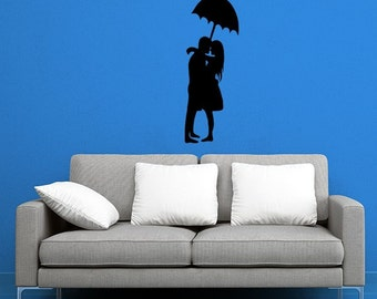 Couple Kissing Romantic Wall Decal