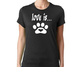 Ladies pet t shirt
