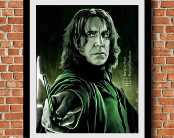 "Severus Snape ""Always"" Digital Painting Print, Companion Piece (2 of 4), Harry Potter"
