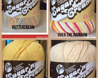 Lily Sugar 'n Cream yarn - DESTASH SALE - Lot of 21 SKEINS