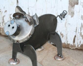 Metal Pig Statue, Pig Farmhouse Decor, Outdoor Pig Statue, When pigs fly, Metal Pig Sculpture, Steel Pig, pig decor, pig farmer, mini pig