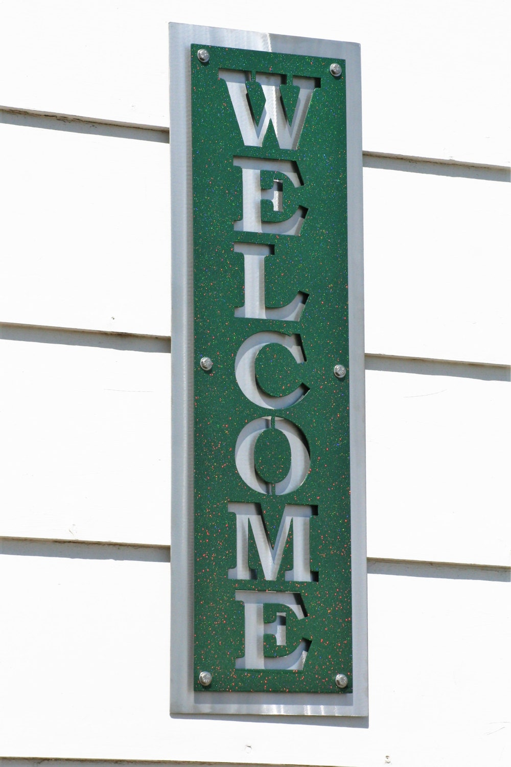 Vertical Welcome Sign, Modern Welcome, Layered Metal Welcome, Entryway  Welcome, Welcome To Our Home, Outdoor Welcome Sign, Hanging Welcome