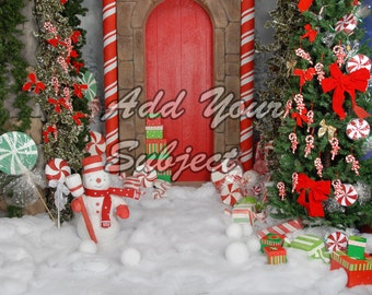 Digital Photo Backdrop Download Christmas Background Scene