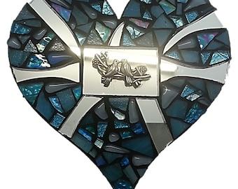 Mosaic  Heart - Love Birds