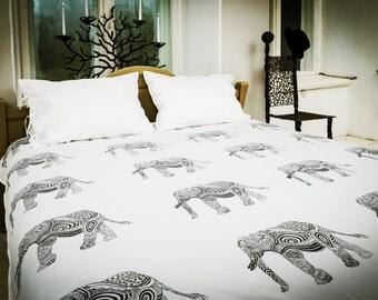wisdom elephant bed linen set duvet linens elephant duvet cover organic bed