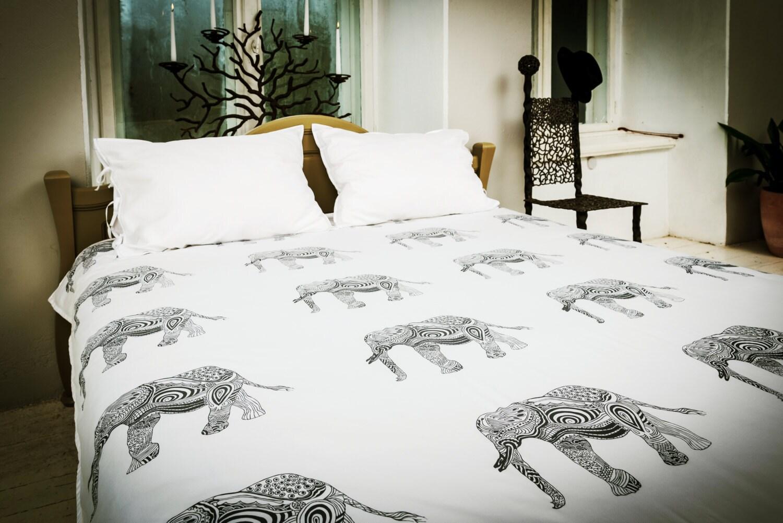 Wisdom Elephant Bed Linen Set Duvet Linens Elephant